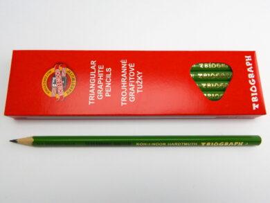 Tužka trojhranná 1802 č.3 zelená(1802003001KS)