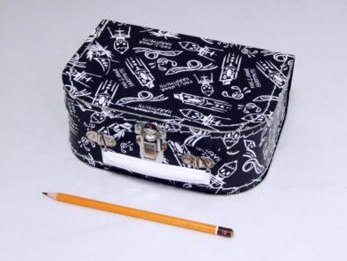 dětský kufřík papírový 9900092 malý černý 20 cm(990009200200)