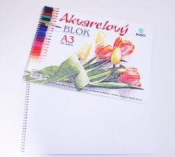 Akvarelový blok A3, čistý, 20 listů (22097)