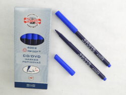 popisovač CD/DVD 4002 modrý trojhranný