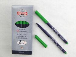 popisovač CD/DVD 4002 zelený trojhranný