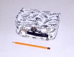 dětský kufřík papírový 9900092 malý bílý 20 cm