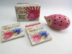 ježek malý 9960M s pastelkami růžový